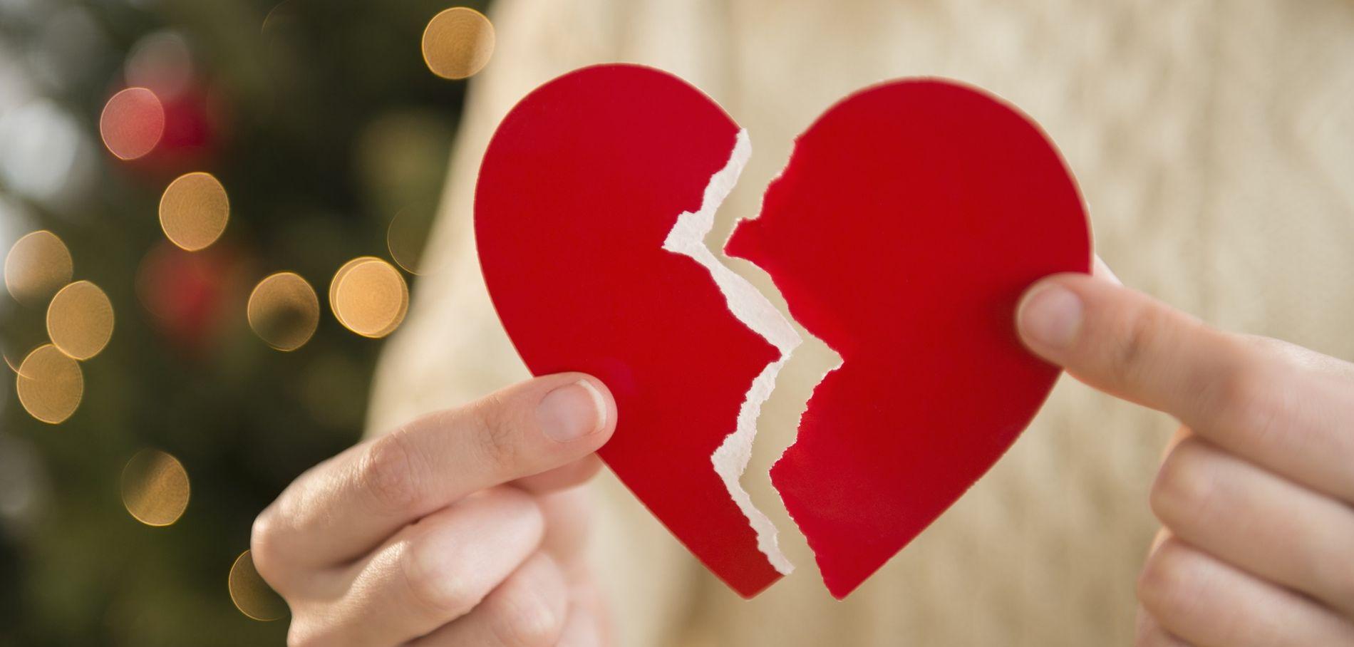 Infedeltà cuore spezzato